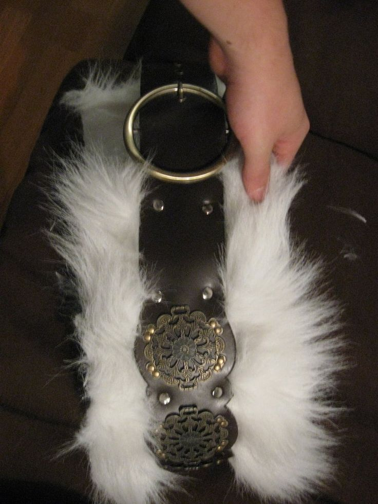 Barbarian's Belt by ~Marcusquintustitus on deviantART  A very easy way to make a belt. Due to the trend style of belts, it is very easy to find belts like these at thrift stores, and add faux fur, or even real fur, if you have it! By utilizing thrift stores and having a crafty mindset, you can make many things for your kit, and not need to spend lot's of money!