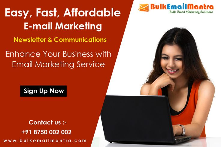 Email marketing has the highest ROI of any marketing method, and it is a very effective way to advertise your products and build a strong, ongoing relationship with your customers.  # know more details visit : http://www.bulkemailmantra.com/