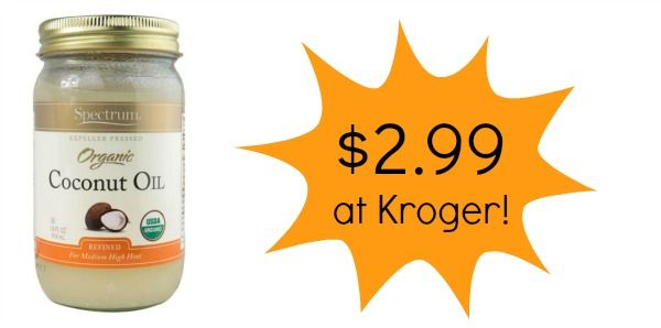 Kroger: Spectrum Organic Coconut Oil Only $2.99!