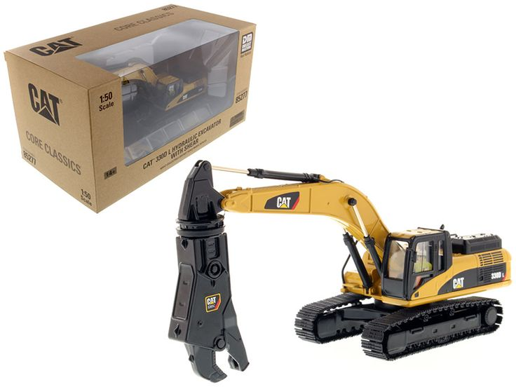 Caterpillar 330D L Hydraulic Excavator with Shear Core Classics Series with Operator 1/50 Diecast Model by Diecast Masters