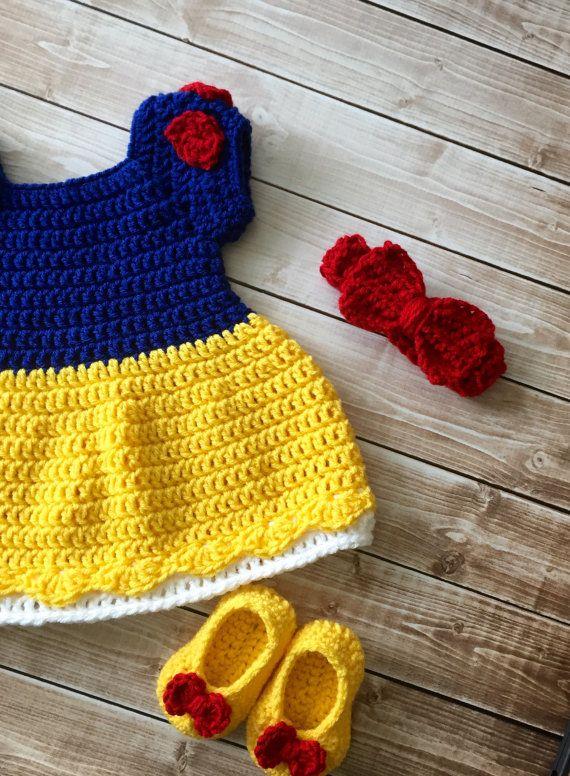 Princess Snow White Inspired Costume/Crochet by mamamegsyarnshoppe