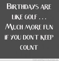 Dads Golf Birthday Quote