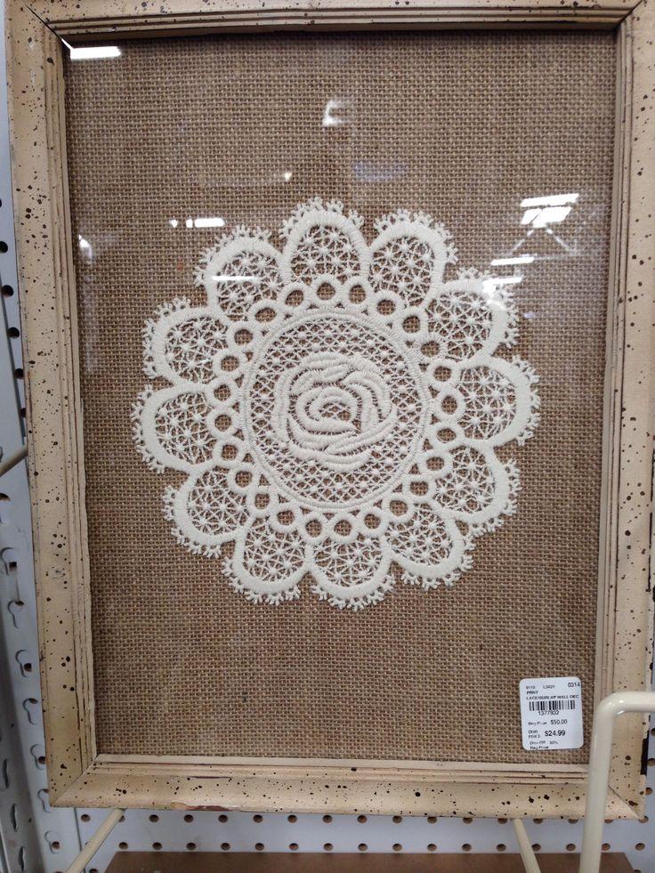 Display doily in frame