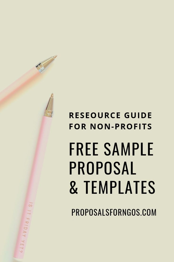 Sample Proposal for Nonprofits   Grant proposal writing, Grant ...