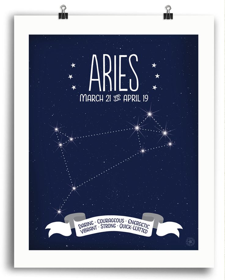 Aries • Constellation Print - Anne Garrison Studio