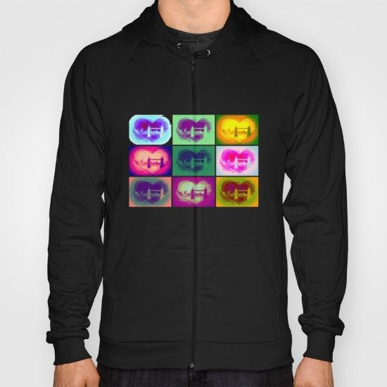 https://society6.com/product/rock-on178772_t-shirt#s6-6406721p15a4v104a5v17a11v49 American Apparel Zip-up Hoodies and Pullover Hoodies come in a variety of colors and sizes.  Complete with kangaroo pocket this stretchy, comfortable fit, unisex cut includes double-stitched cuffs and hem.