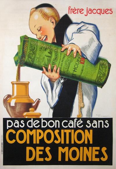 FRERE JACQUES CAFÉ COMPOSITION DES MOINES (1925)