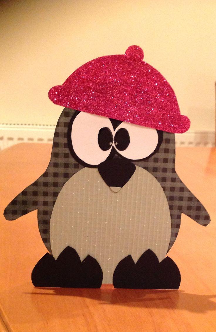 Handmade baby penguin card my other cards pinterest for Penguin christmas cards homemade