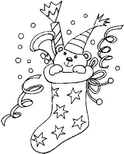 dibujos para colorear de calcetines y botas de navidad plantillas para colorear de calcetines y