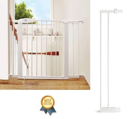 Extension-Safety-Gate-Baby-Door-Child-Toddler-Pet-Walk-Lock-Metal-Easy-Thru-Wide