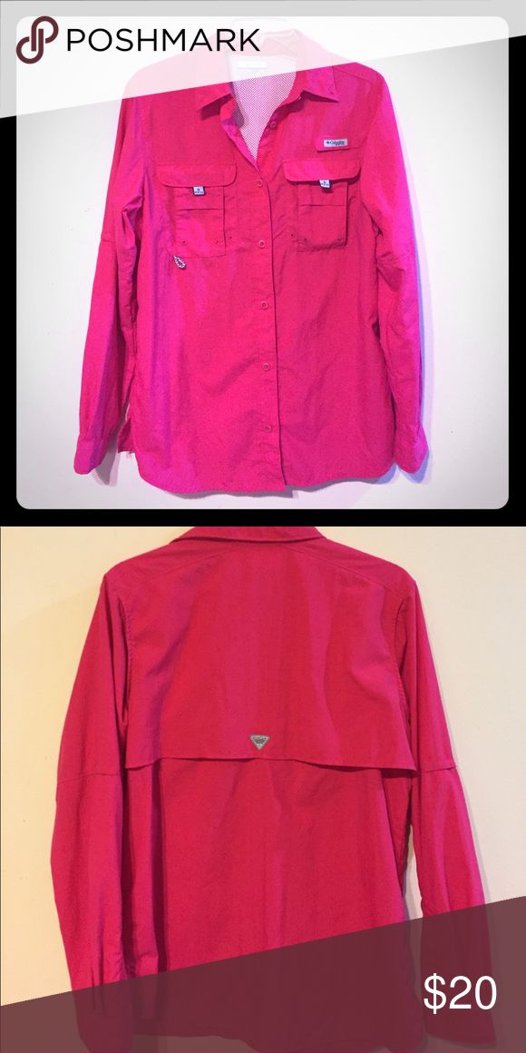Columbia Fishing Shirt Hot Pink Hot pink Columbia brand fishing shirt. Tags in pocket still in great condition! Size small. Columbia Tops