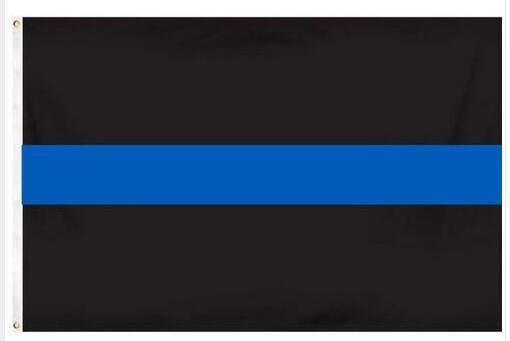 Freies verschiffen 90*150 cm BlueLine usa Polizei Fahnen, Thin Blue Line USA Flagge, weiß Und Blau Amerikanische Flagge Mit Messing Ösen