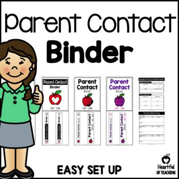 PARENT CONTACT BINDER FOR THE 2017-2018 SCHOOL YEAR It is important to keep in contact with parents and to keep track of each contact we make. With this contact binder, you will be able to keep track of who called and when, what they called about, and what you may need to do next. #parentcontactbinder #parentcontact