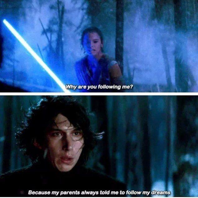 Star Wars Starvwars Memes Sequel Memes Funny Star Wars Kylo Rey Starwarsquotes Rey Star Wars Star Wars Humor Star Wars Quotes