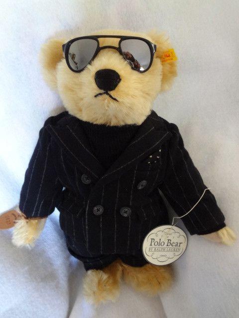 Ralph Lauren Steiff Polo The Producer Bear Sunglasses Tags Box Limited Ed