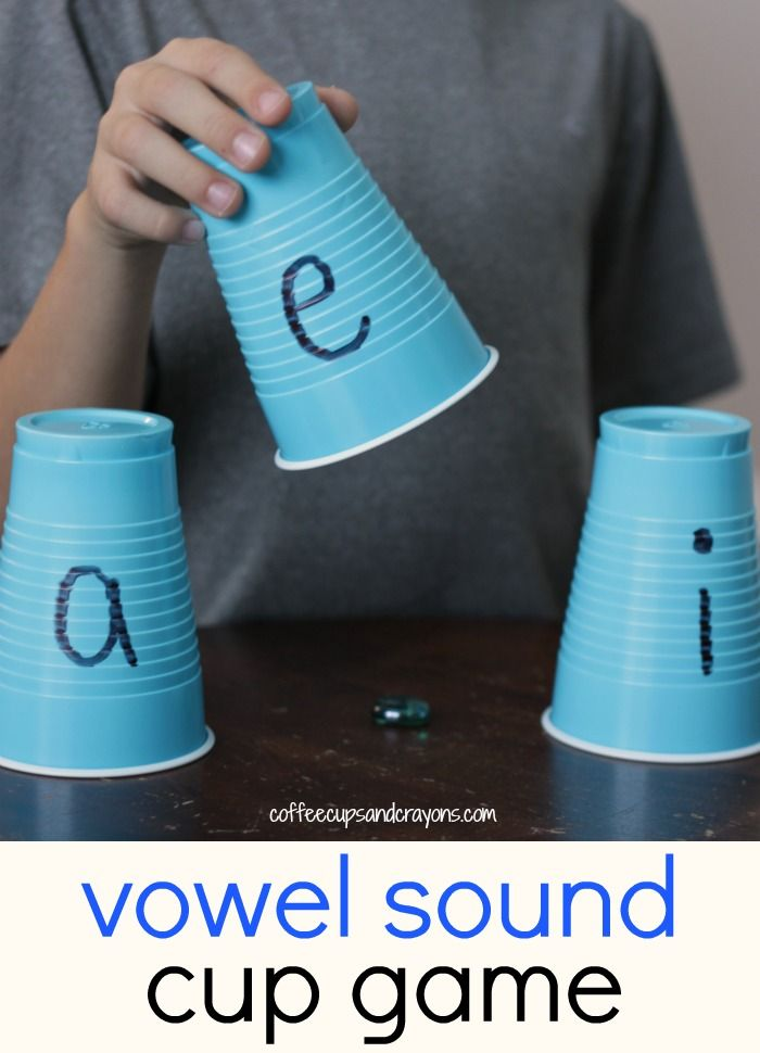 Vowel sounds are hard to practice, especially the A, E, and I. To make the phonics practice fun we created a fun vowel sounds practice game with cups!
