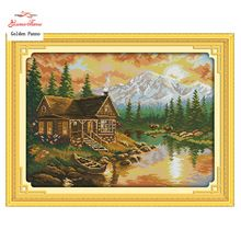 Needlework DIY DMC  11CT printed Cross stitch Sets For Embroidery kits sunset Patterns Counted Cross-Stitching(China (Mainland))