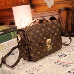 Новые модели европейские ван моды прилив ретро сумка печать женский портативный плече сумка сумка женщины звезды с денежным мешком