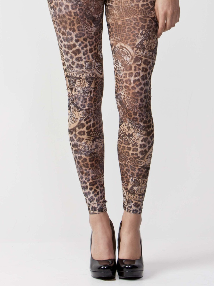 Sheena - Leopard Print Leggings with elasticated waistband. Features regular-rise styling with bodycon fit. $44.00