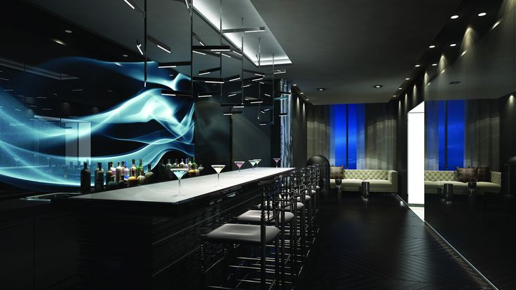 Pull up a seat to the bar in the party room at 87 Peter Condos