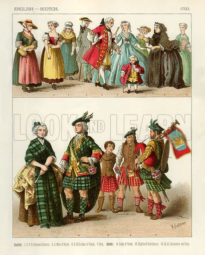 English and Scotch Costumes 1700