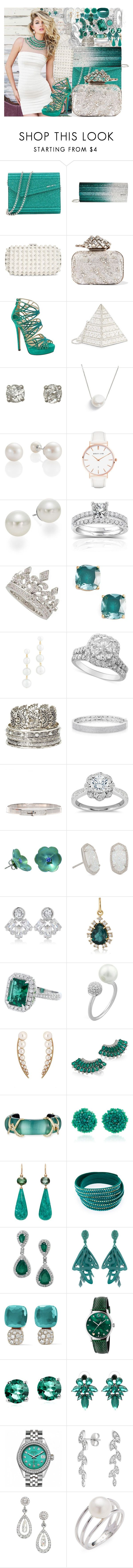 """""""Untitled #4570"""" by brooke-evans12 ❤ liked on Polyvore featuring Jimmy Choo, Sherri Hill, INC International Concepts, Judith Leiber, Chan Luu, Abbott Lyon, AK Anne Klein, Annello, Garrard and Kate Spade"""