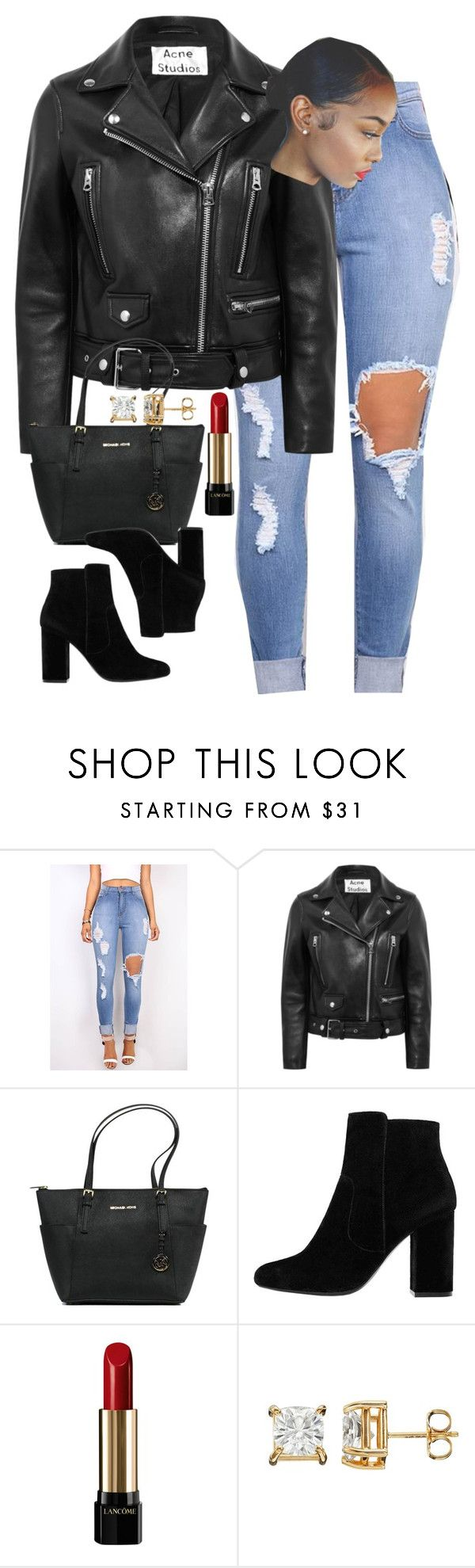 """10:09"" by mcmlxxi ❤ liked on Polyvore featuring Acne Studios, Michael Kors, MANGO and Lancôme"