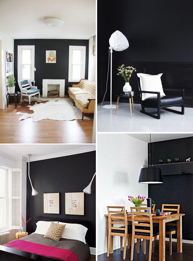 17 beste idee n over donkere slaapkamer muren op pinterest donkere muren zwarte slaapkamer - Kleur van de muur kamer verf ...