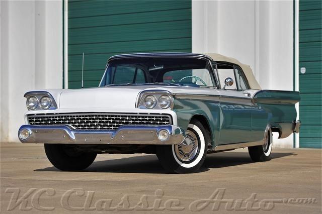 1959 Форд галакси 500 SUNLINER для продажи, мышцы автомобилей, Коллекционер, антикварный, и ретро-автомобили, Стрит-роды, Хот-роды, рэт-роды, и грузовых автомобилей на продажу по КС классический авто в heartland, Среднем Западе США, Канзас-Сити, классический и мышцы автосалон, музей и хранения