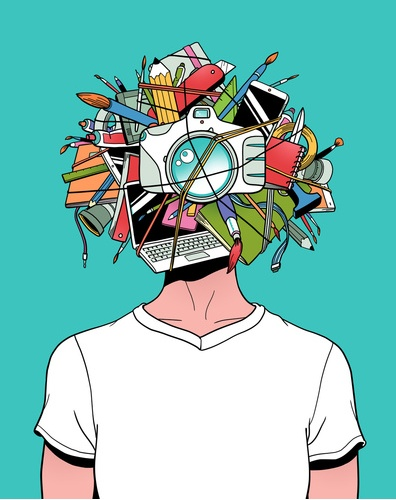 Sei una testa creativa?   Creative Head by @kyletwebster