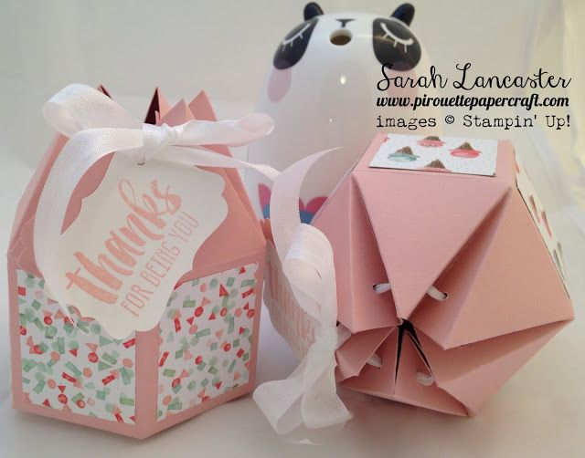 big top box   full video tutorial for six side pointy topped box   pirouette paper craft
