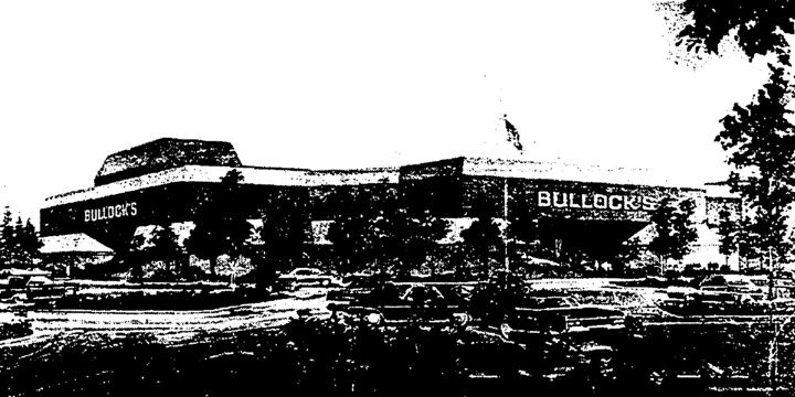 Bullock's - West Covina, The Plaza at West Covina, West Covina, CA (1975, SF: 150,000)