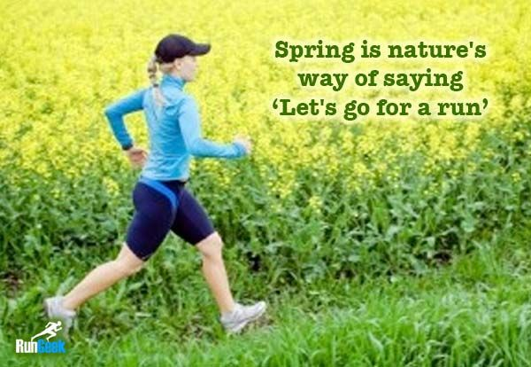Running in the spring is bliss #rungeek