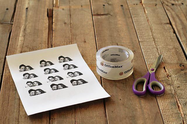 packing tape image transfers