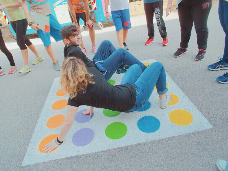 Diy idea: paint twister in your yard and enjoy family time!