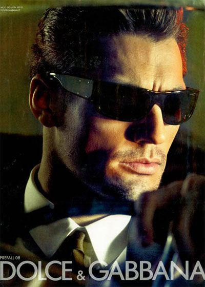 The face of Dolce & Gabbana eyewear, pre-fall 2008. Photographed by Steven Klein.