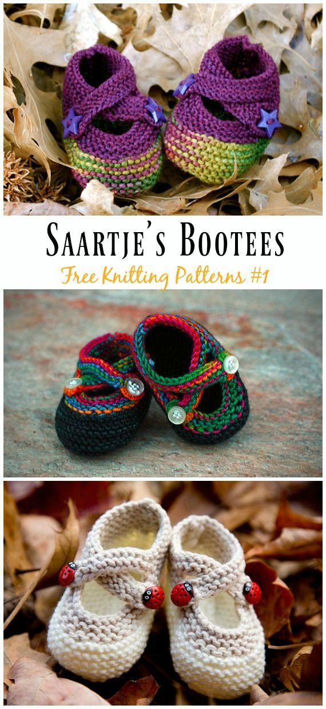 Knit Baby Slipper Booties Free Patterns Crochet Cal Pinterest