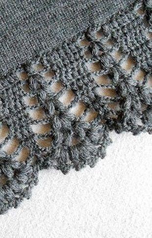 El patrón de la frontera de crochet