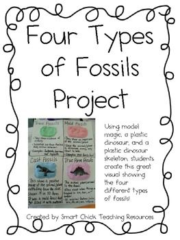 four types of fossils project hands on activity with fossils apps science classroom. Black Bedroom Furniture Sets. Home Design Ideas