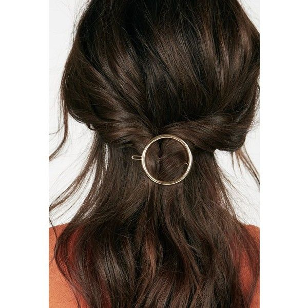 Justfab Accessories Looped In Hair Clip ($6.95) ❤ liked on Polyvore featuring accessories, hair accessories, gold, barrette hair clip, hair clip accessories, justfab, gold hair clips and gold hair accessories
