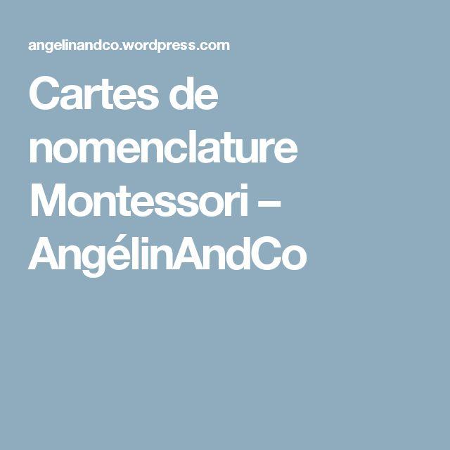 Cartes de nomenclature Montessori – AngélinAndCo