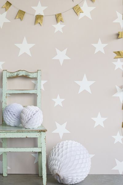 This Star wallpaper is a contemporary yet sophisticated take on the classic star design Suitable for nurseries through to the teenage years and