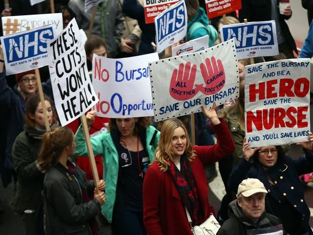 The Government has been accused of going back on its promise to fund 10,000 new nursing degree places after universities said no extra places have yet been allocated or paid for. In his 2015 Autumn Statement, George Osborne said student nurses would stop receiving bursaries and would have to take out loans to fund their courses instead.