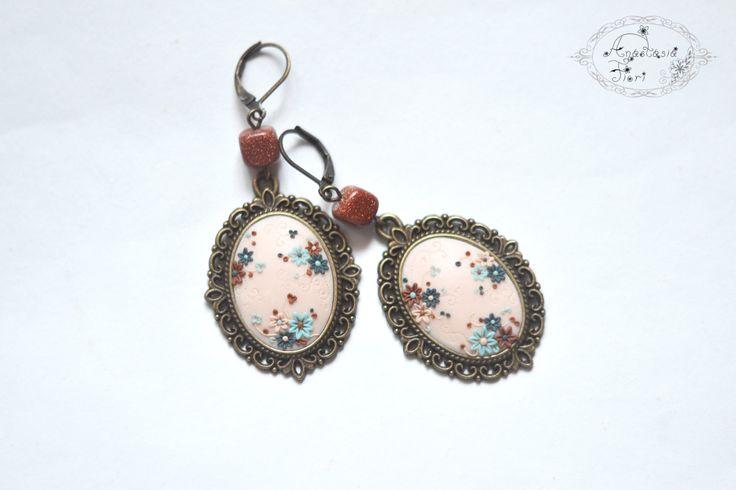 by AnastasiaFioriBijou on Etsy, filigree, filigree earrings, handmade earrings, flower earrings, flower decoration, handmade, flowers