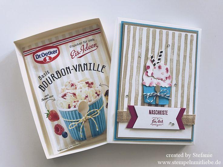 Stampin Up - Verpackung - Box - Challenge Nr. 40 - kreativdurcheinander - Eispulver - Bourbon-Vanille - Anleitung - Tutorial♥ StempelnmitLiebe