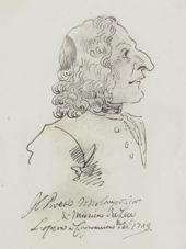 Caricature of Antonio Vivaldi by P. L. Ghezzi, Rome (1723)
