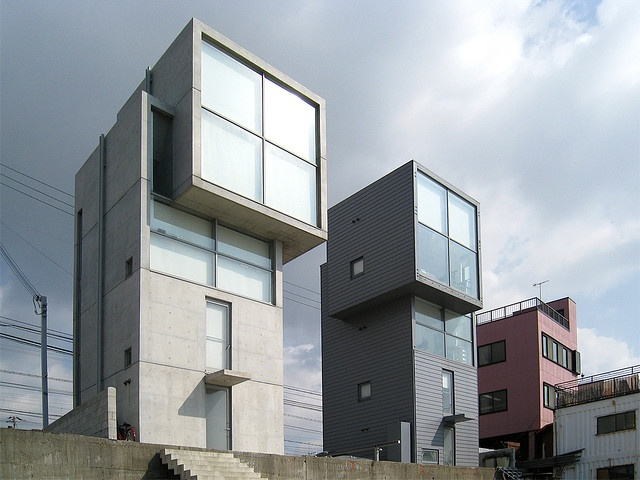 4 X 4 Houses. Tadao Ando. Kobe, Japan. 2004