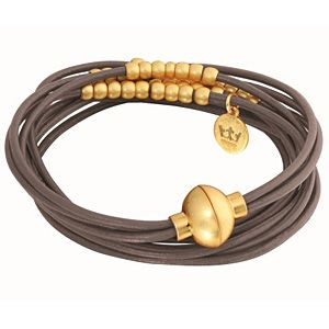 Leather Bracelet with Golden Touch...Sence Copenhagen #ZbyAlikiVergidou