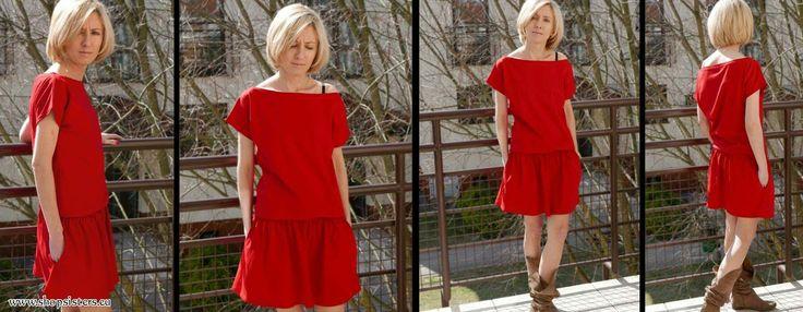 Mini dress - SPALLA - product Sisters Polish company. #dress #minidress #red #minired #fashion #summer #sisters #summerdress #newlook shopsisters.eu
