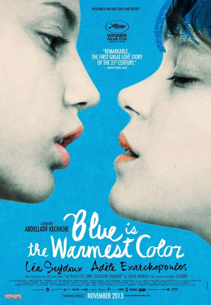 Blue is the Warmest Color (2013) Alternate title: La vie d'Adèle  Poster design by Karine Savard